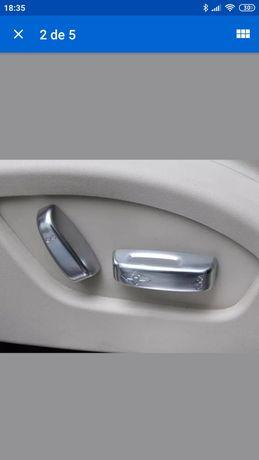 Volvo XC60 V60 V40 S80 S60 C30 C70 /2* botão de ajuste do assento capa