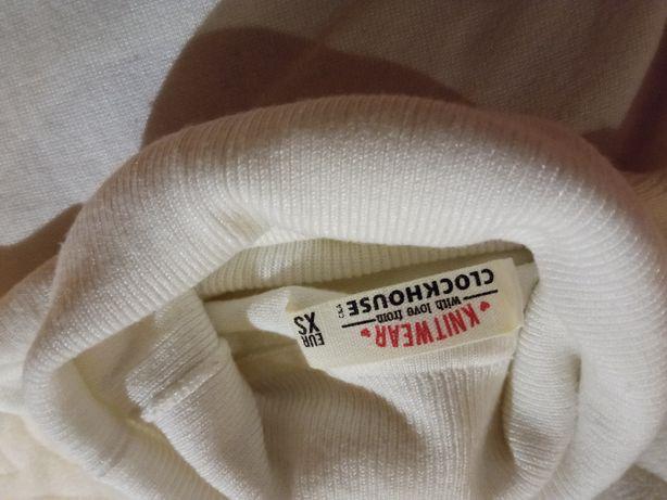 Sweter golf biały r.34
