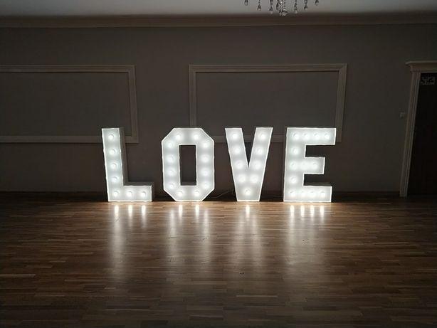 Napis podświetlany love