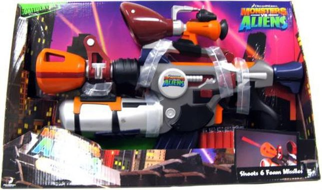 Pistolet Monsters vs. Aliens Foam Dart Blaster