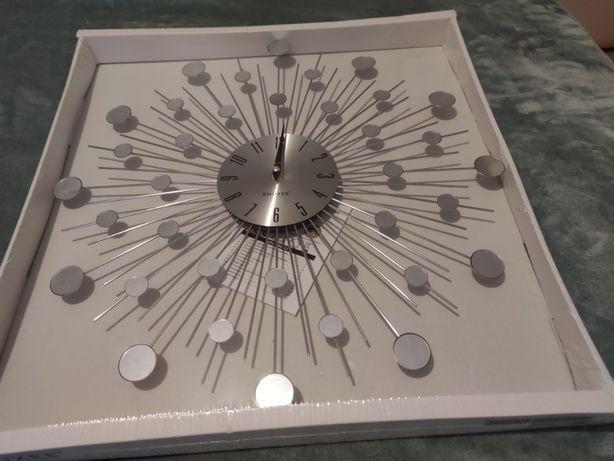 ZEGAR ścienny Stylowy - srebrny