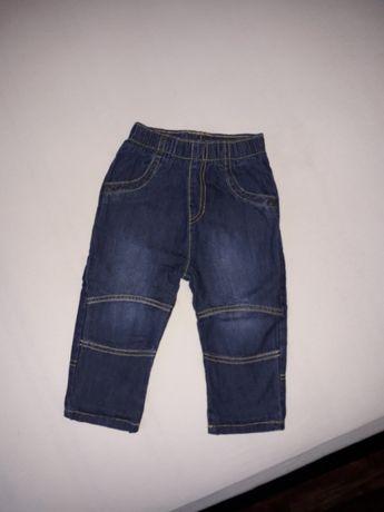 Jeansy ocieplane 80 stan idealny dżinsy