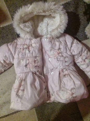 Курточка зимова на дівчинку 1-2 роки