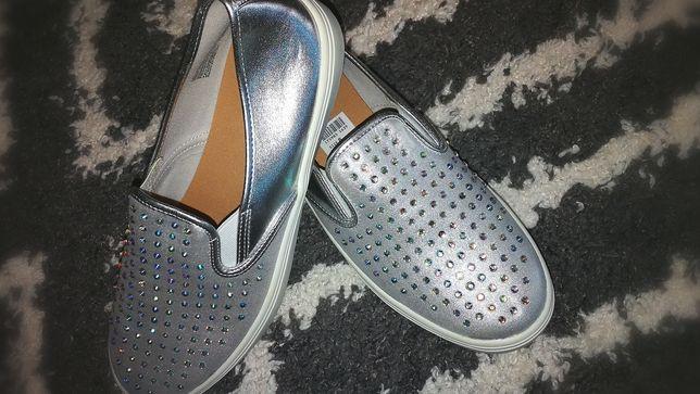 Слипоны серебро новые
