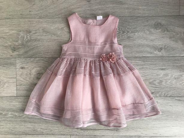 Нарядное платье h&m 12-18 мес 86 см отличное состояние