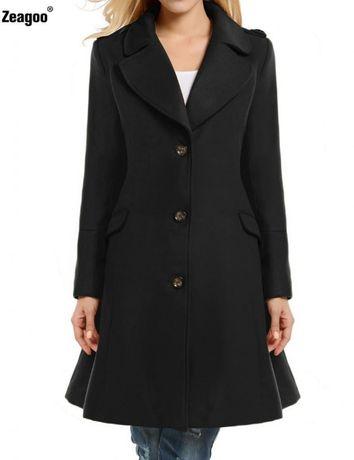 Новое черное пальто Zeagoo р.S-М