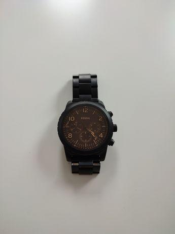 Zegarek Fossil, czarna bransoleta