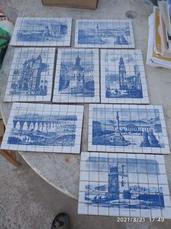 Azulejos miniatura com monumentos portugueses