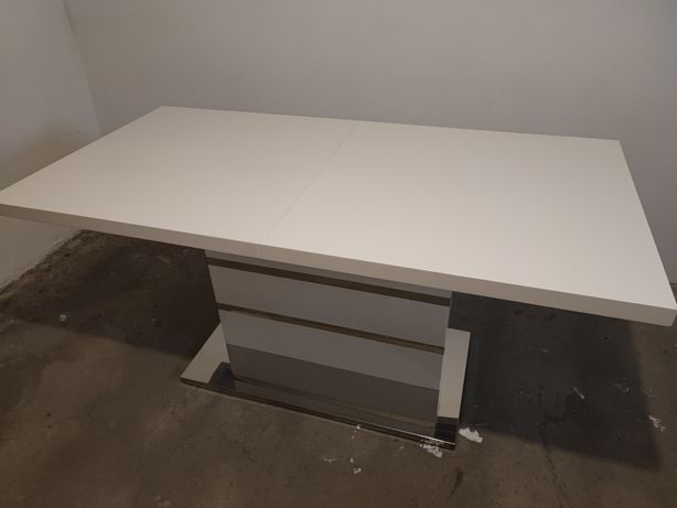 Stół biały połysk lakierowany