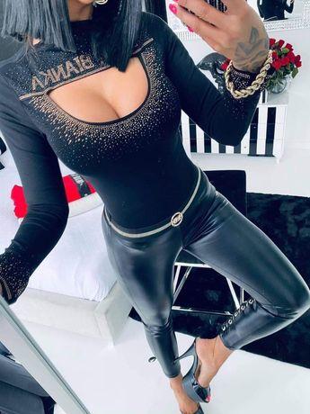 Body Lola Bianka czarne 10601 cekiny