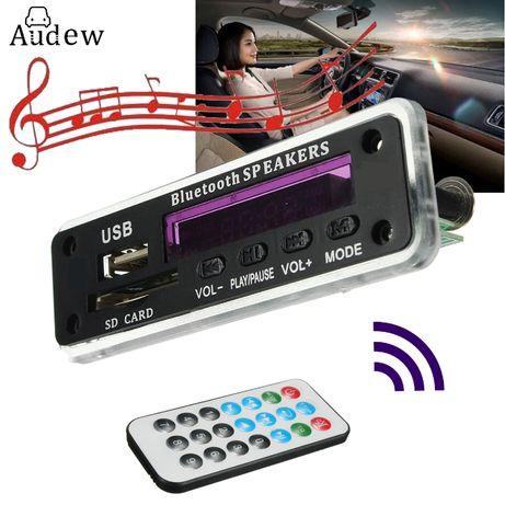 MP3 плеер модуль декодер с пультом ДУ и USB SD FM 5-12В Bluetooth часы