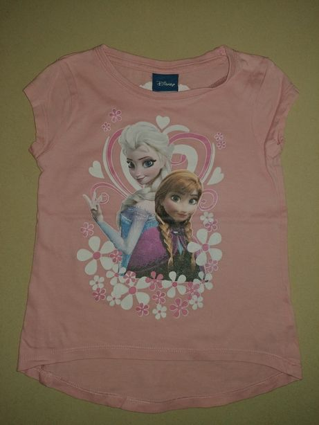 BHS bluzka krótki rękaw Kraina Lodu r.92/98, 2-3 lata Elsa, Anna