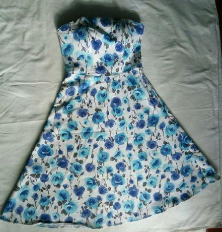 платье винтаж цветы