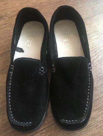 Замшевые туфли лоферы балетки 37,5