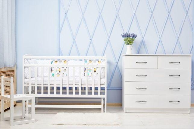 Новая детская белая кроватка. Бук. Маятник. Киев самовывоз. Пересылка