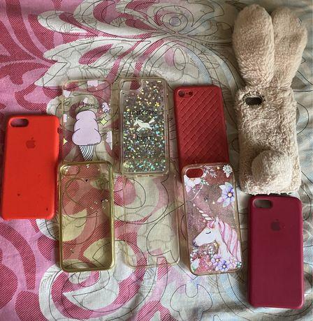 Чехлы на iphone 7 комплект 9шт. за 60 грн.