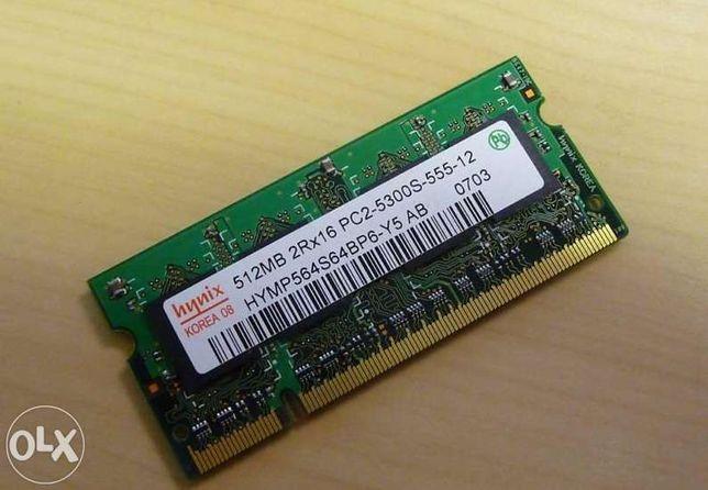 Hynix 512MBx2 para portateis