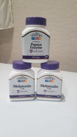 Мелатонин, Папайя Ензимы