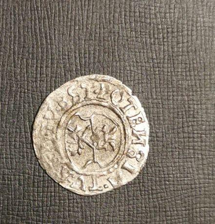 Szeląg WILHELMA BRANDENBURSKIEGO 1545r. Ag. Oryginał B. Rzadki