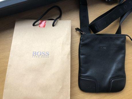 Hugo Boss сумка кожанная через плечо, поясная, кошелек барсетка