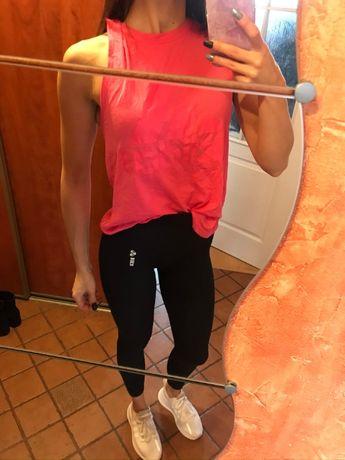 koszulka różowa damska adidas bez rękawów 36 S trening siłownia bawełn