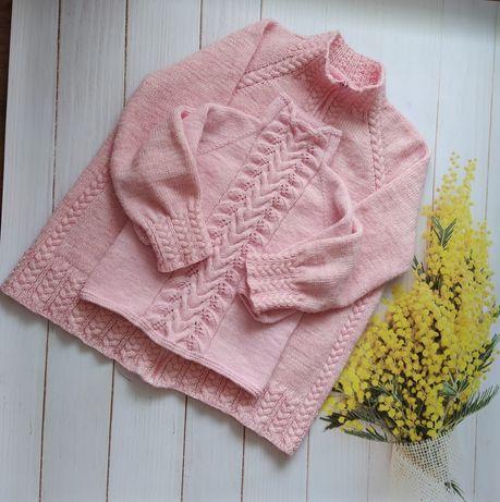 Детский вязаный свитер, фэмили лук