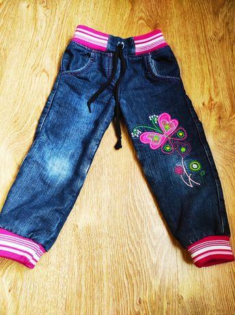 Дитячі джинси на флісі