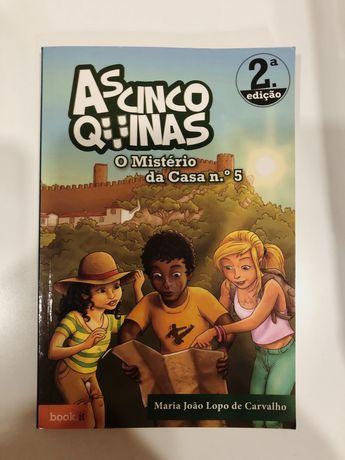 """Livro """"As cinco quinas - O mistério da casa nº5"""""""