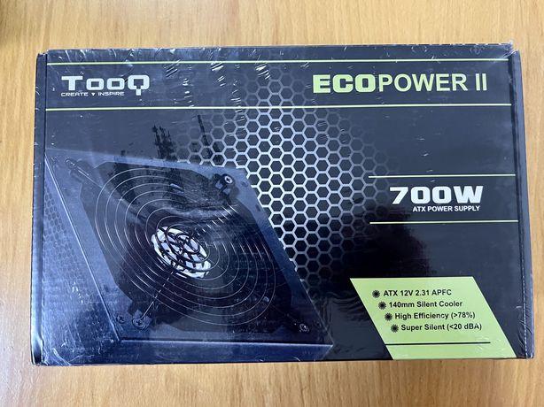 Fonte de Alimentação Tooq Ecopower II 700W PFC Activo