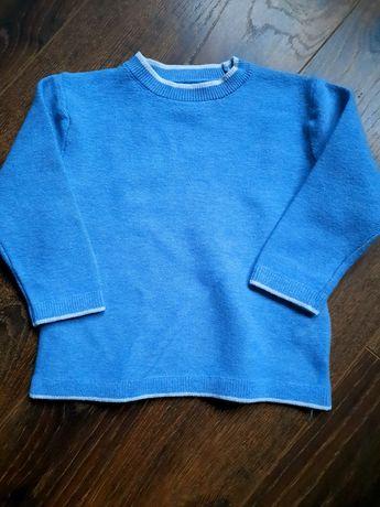 ZARA bawełniany sweter niemowlęcy niebieski rozm. 74