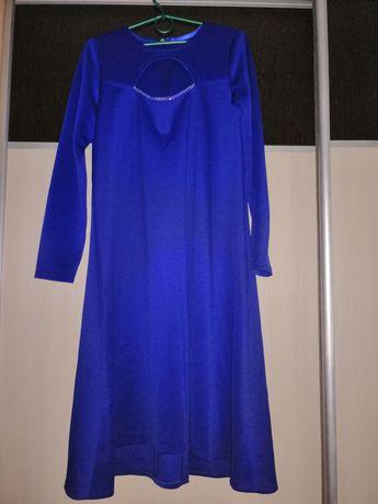 Платье/сукня/нарядное/коктейльное/цвет электрик/синий/56-58 размер