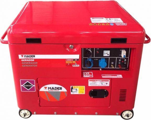 Gerador de Corrente Energia 5000 W monofásico DIESEL Silencioso rodas