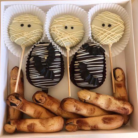 Десерты на хэллоуин! Шоколадные фигурки