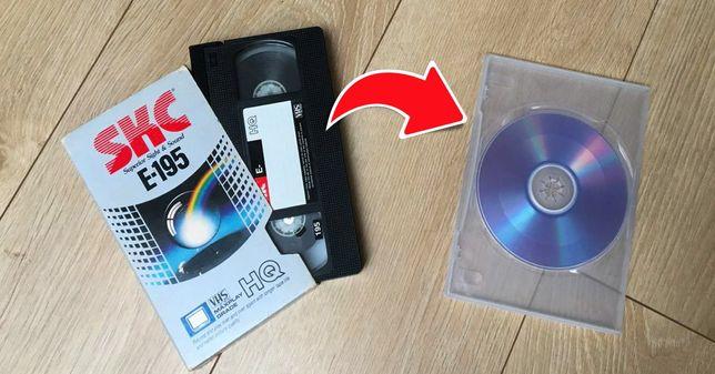 Przegrywanie kaset VHS na DVD 20zł/sztuka