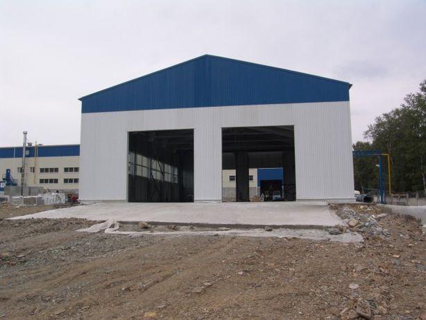 Строительство зернохранилищ Ангаров складов. Арочные бескаркасные цеха