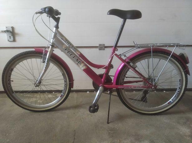 Różowy rower dziecięcy