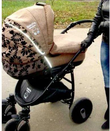 Детская коляска 2в1 .Польша.ткань льон