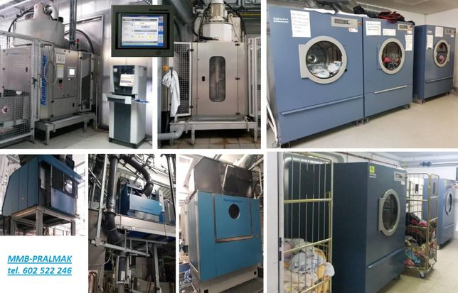 Likwidacja pralni wodnej - tunel, magiel, pralnica, suszarka, pralnia
