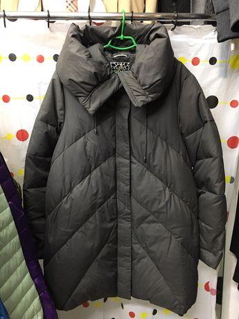 Куртка пуховик,полупальто, большой размер 56-58; ЛЮКС КАЧЕСТВА! Фабрич