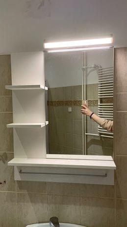 Półka lustro łazienkowe z kinkietem IKEA