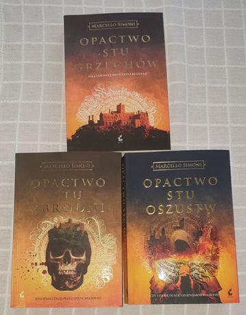 """Książki Marcello Simoni """"Opactwo Stu Zbrodni"""""""
