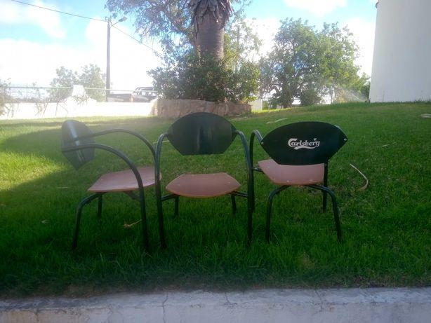 Cadeiras de esplanada da Carlsberg