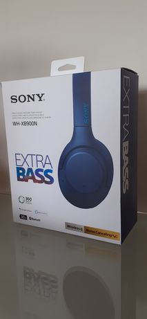 Bezprzewodowe słuchawki SONY WH-XB900N EXTRA BASS - niebieskie