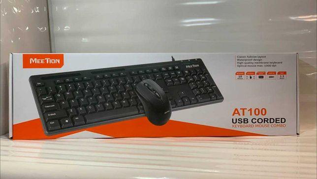 Комплект клавиатура и мышь Combo MEETION 2in1 USB MT-AT100, черный
