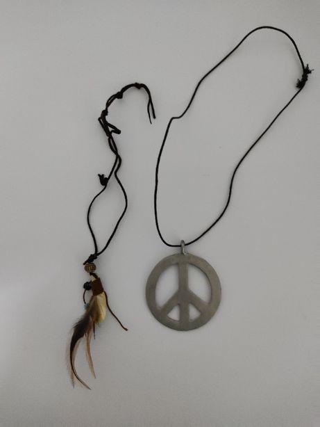 Colares hippies - símbolo da paz