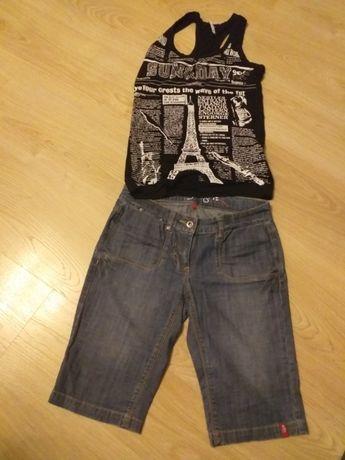 Zestaw dla dziewczynki - spodenki Esprit i bluzeczka rozm. 164 cm
