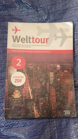 Welttour 2 Podręcznik z ćwiczeniami język Niemiecki LO/Technikum Mróz