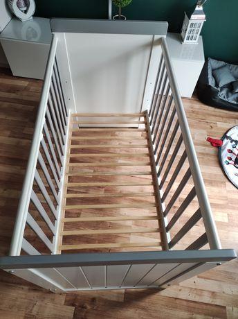 Łóżeczko drewniane Plusbaby Classic Light Grey