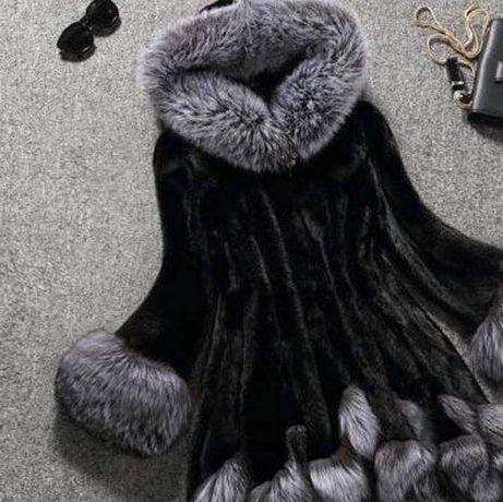 Зимняя шуба ЭКО мех