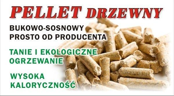 Pelet / pellet bukowo-sosnowy 6 mm. W dużych ilościach TANIEJ